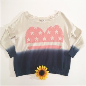 American Eagle star knit patriotic sweater XS